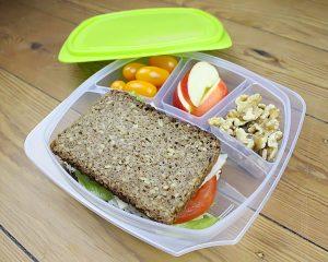 Lunchbox mit Fächern